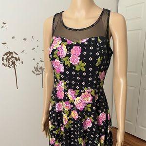 Xhilaration floral fit and flare skater dress